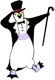 Northstar logo: dancing penguin with top hat and cane